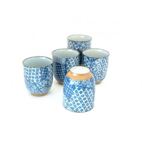 Set de 5 tasses à thé patchwork
