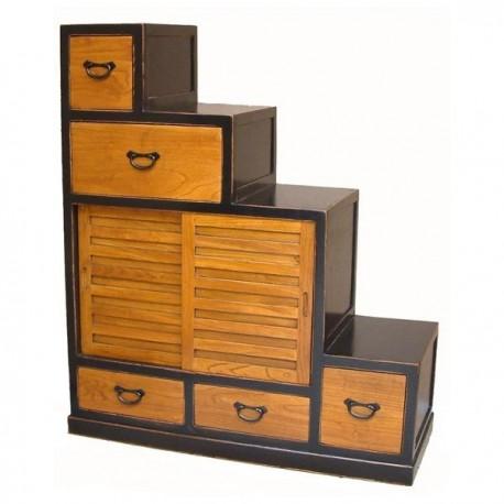 escalier 120 bicolore le japonais. Black Bedroom Furniture Sets. Home Design Ideas