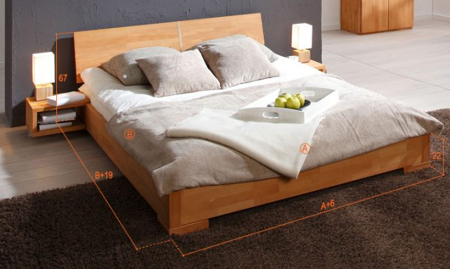 Dimensions du lit shizen bas naturel