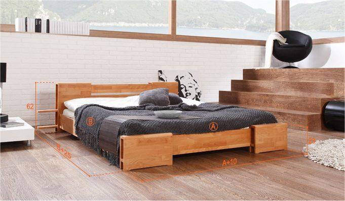 Dimensions du lit Edo bas naturel