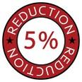 5 % de réduction sur vos commandes avec nos points de fidélité