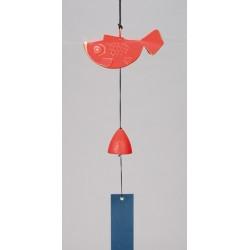 Mobile japonais Furin poisson rouge et clochette