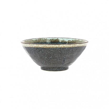 Bol évasé noir en céramique japonaise