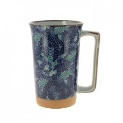 Grand mug éventails bleu