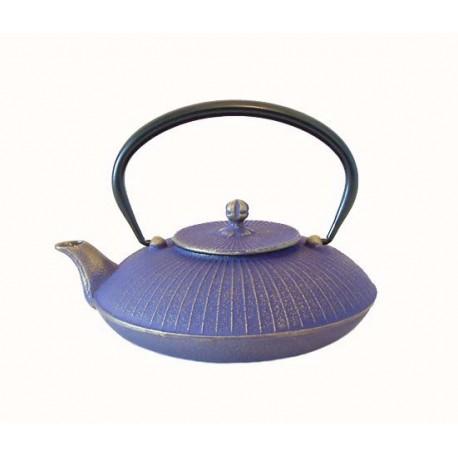 Théière japonaise en fonte Kasa 0,65 Lt Couleur : bleu