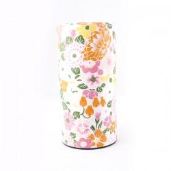 Boite à thé japonaise motifs fleurs