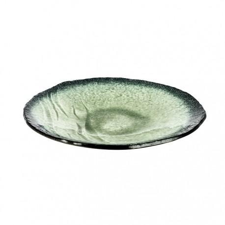 Assiettes turquoises vert