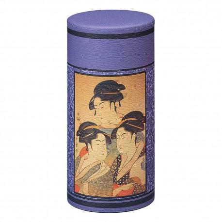 Boite à thé japonaise Ukiyoe