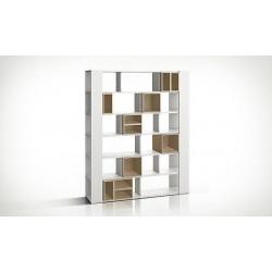 Bibliothèque Anata avec cubes de rangemet couleur chêne