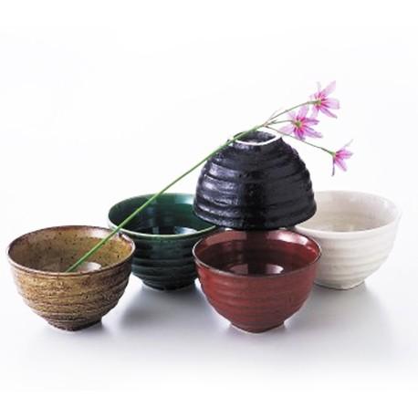 Set de 5 bols japonais 5 couleurs