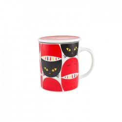 Tisanière chats rouges et noir