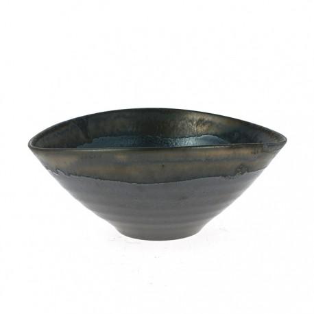 Grand bol japonais noir et gris