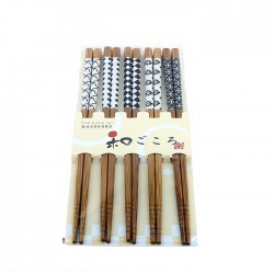 Set 5 paires de baguettes traditionnelles