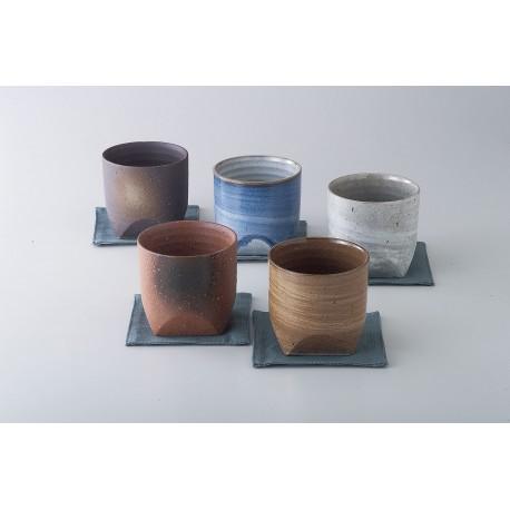 Set 5 tasses à thé avec sous tasses