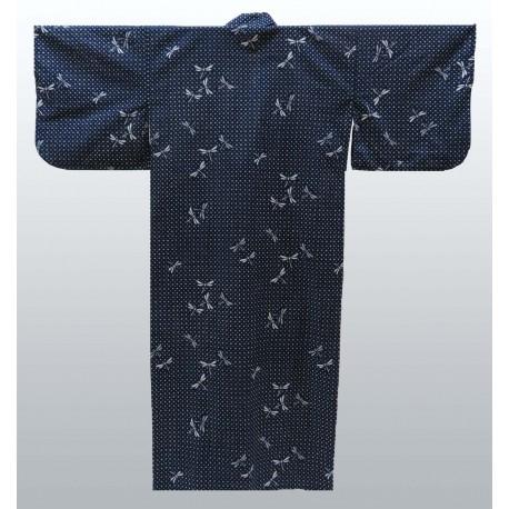Yukata japonais en coton motifs Libellules