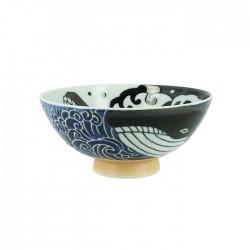 Bol japonais motifs baleines