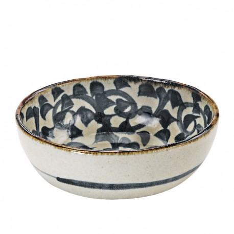 Saladier japonais avec motifs de pieuvres stylisées