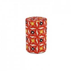 Boites à thé japonaise papier Washi motifs étoiles de couleur rouge