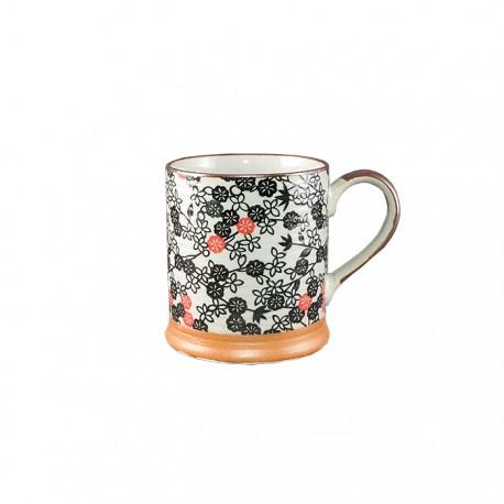 Mug fleurs noir et rouge