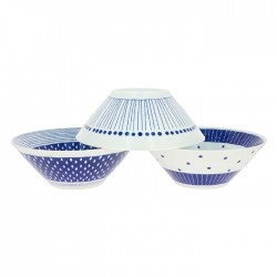 Set de 3 grands bols japonais en porcelaine