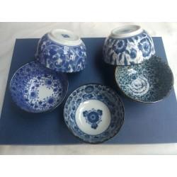 Set de 5 bols japonais avec couvercles