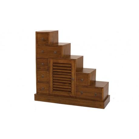 Meuble escalier en bois massif 105 cm