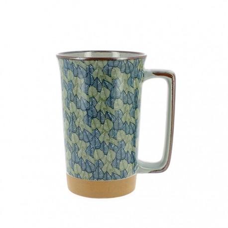 Mug japonais motifs feuilles