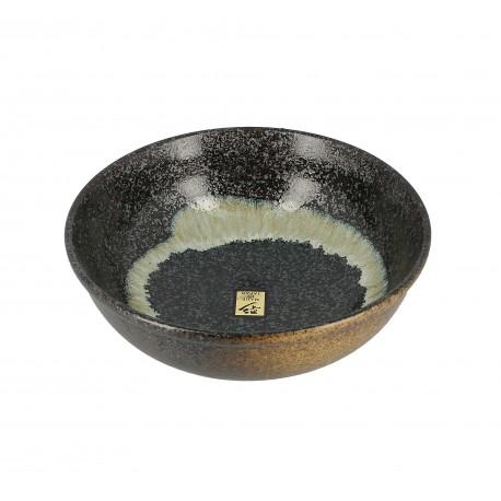 Bol en céramique japonaise dans les tons brun