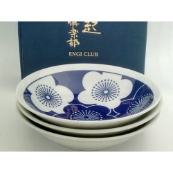 Set de 3 assiettes japonaises rondes et creuses