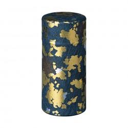 Boite à thé japonaise papier washi bleu