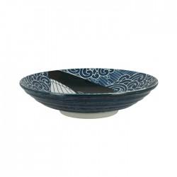 Grand bol japonais motifs baleines