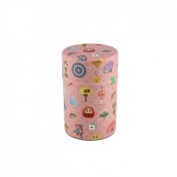 Boite à thé japonaise papier Washi Kawai rose