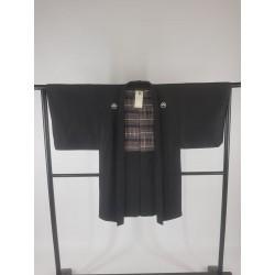 Veste kimono pour homme noire