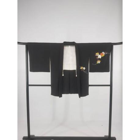 Veste Haori noire pour femme