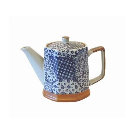 Théière en céramique 0,5 litre motifs patchwork