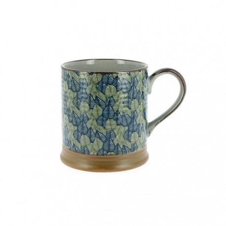 Petit mug feuilles vertes et bleues