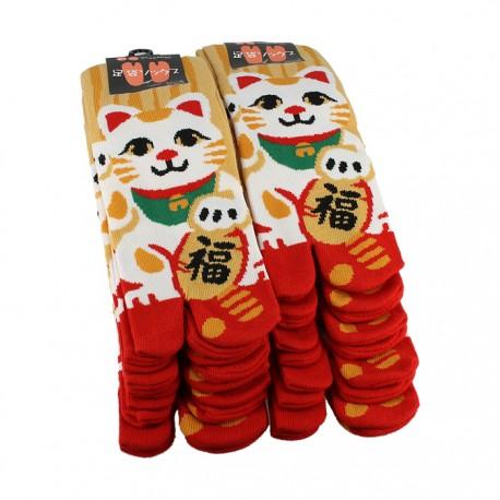 Chaussette japonaise Tabi Maneki Neko