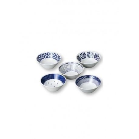 Set de 5 bols japonais en porcelaine