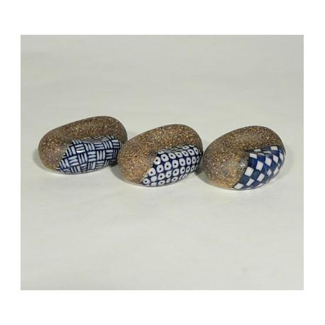 Set de 3 reposes baguettes bleus et bruns