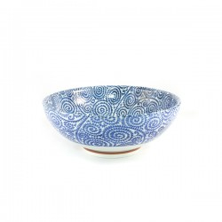 Grand bol ramen en céramique japonaise motifs spirales