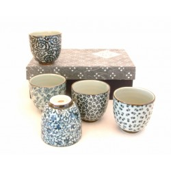 Set de 5 tasses à thé japonaise