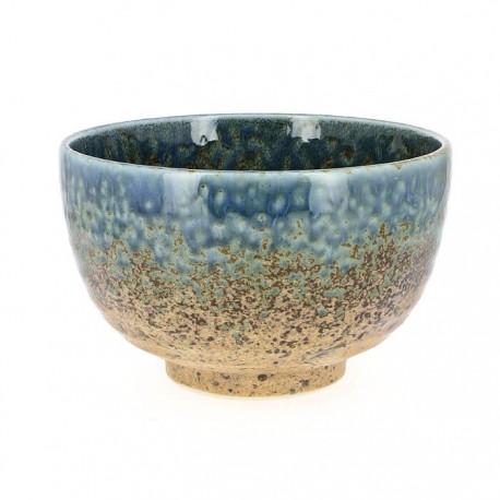 Bol bleu et brun en céramique japonaise