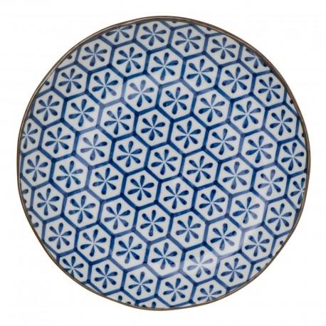Assiette  céramique 25.5 cm - Motif : cristaux dessus