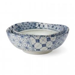 Set 2 saladiers en céramique japonaise 16.5 cm et 20 cm