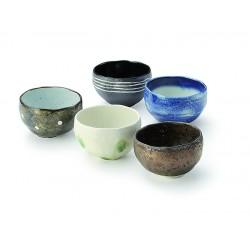 Set de 5 bols à thé wabisabi