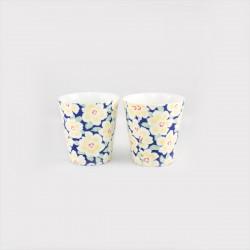 Set de 2 tasses à thé fleurs jaunes