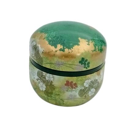 Petite boite à thé paysage verte