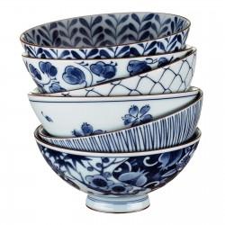 Set 5 bols à riz japonais 12 cm