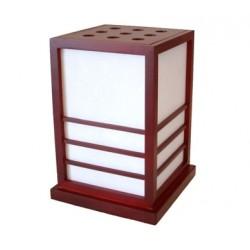 Lampe japonaise sur socle noire