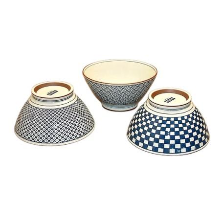 Set de 3 bols japonais en céramique